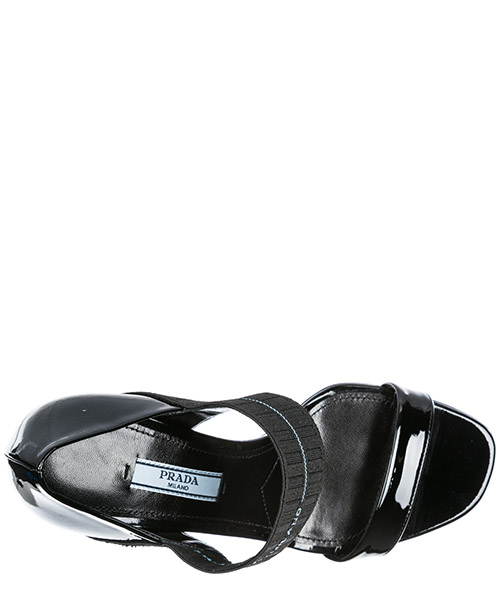 Women's leather heel sandals secondary image