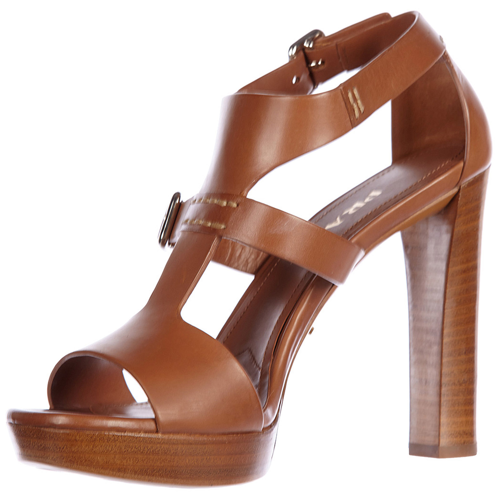 Sandalias de tacón mujer en piel vitello lux