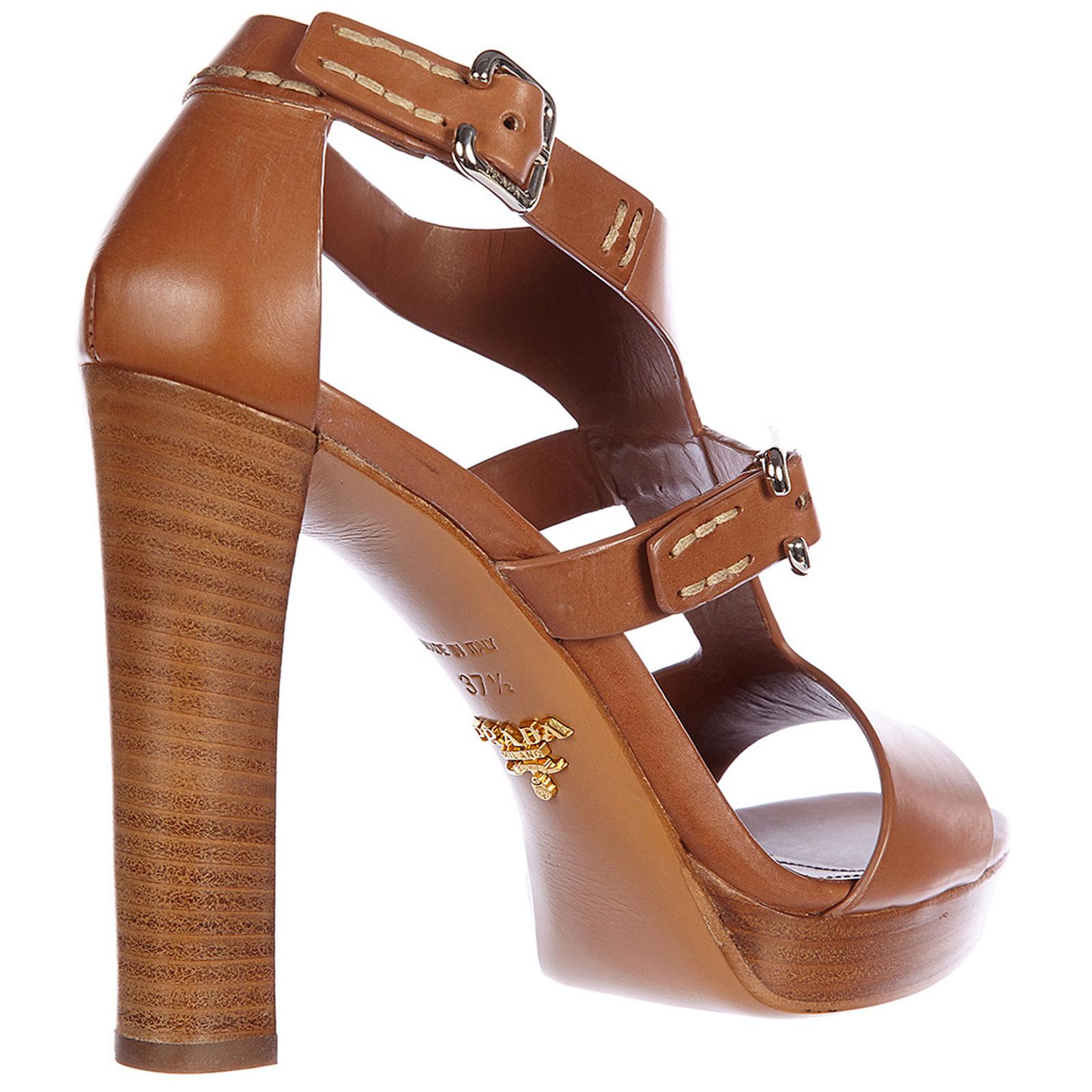 Damen leder sandalen mit absatz sandaletten vitello lux
