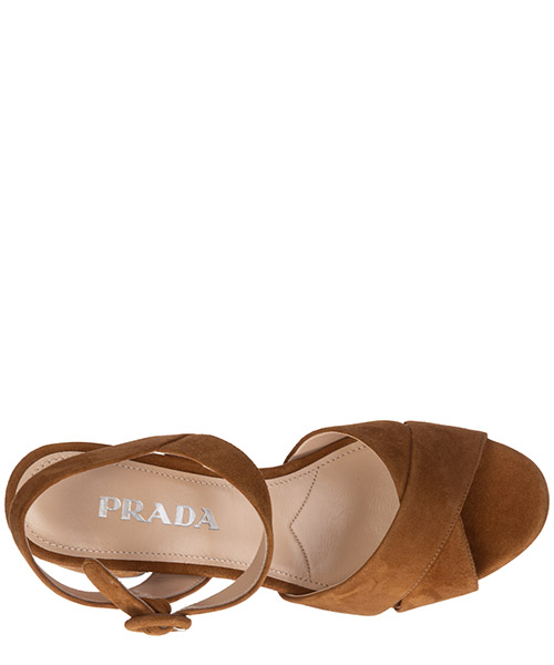Women's suede heel sandals t-strap secondary image