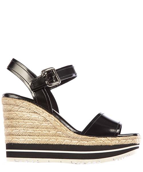 Wedge sandals Prada 1xz418 055 f0002 nero