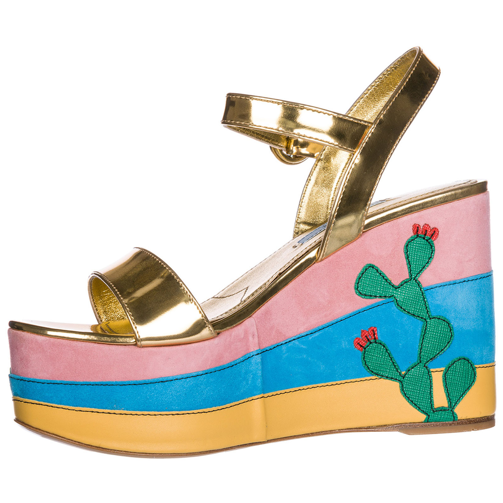 Wedge sandals Prada 1XZ600_3K9I_F0056_F_105 oro