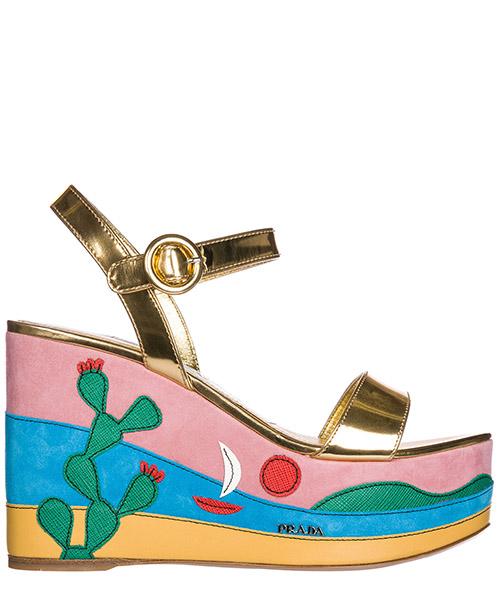 Клиновые сандалии Prada 1XZ600_3K9I_F0056_F_105 oro