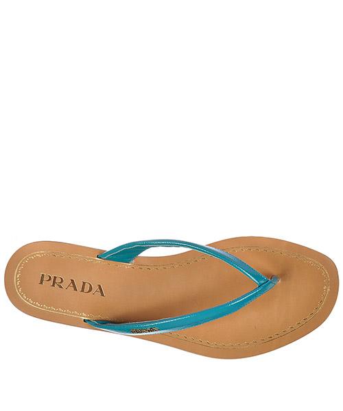 Mujer zapatillas sandalias chanclas en piel vernice saffiano secondary image