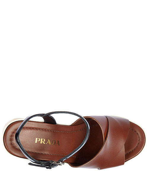Women's leather platform sandals secondary image