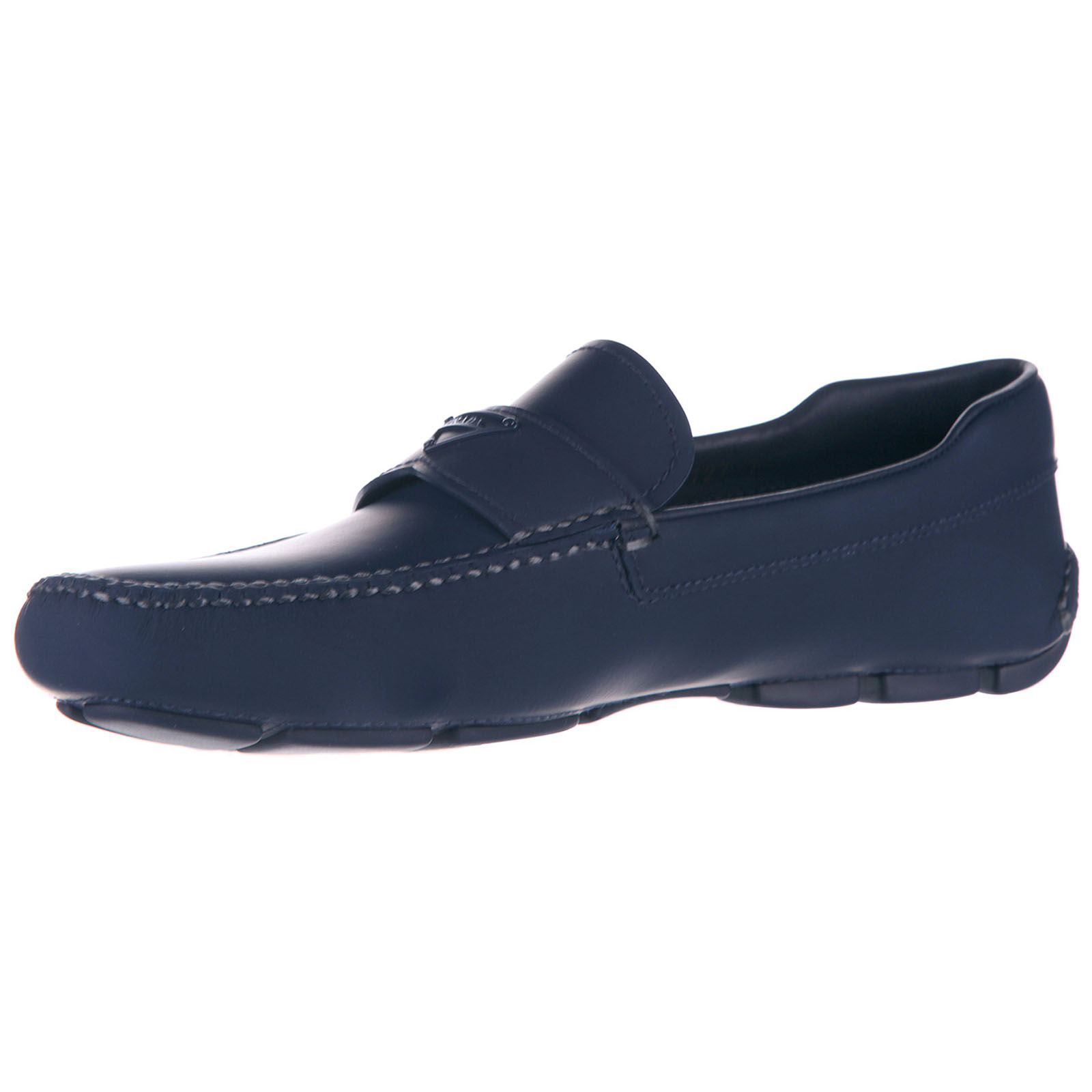Men's leather loafers moccasins  vit rubber