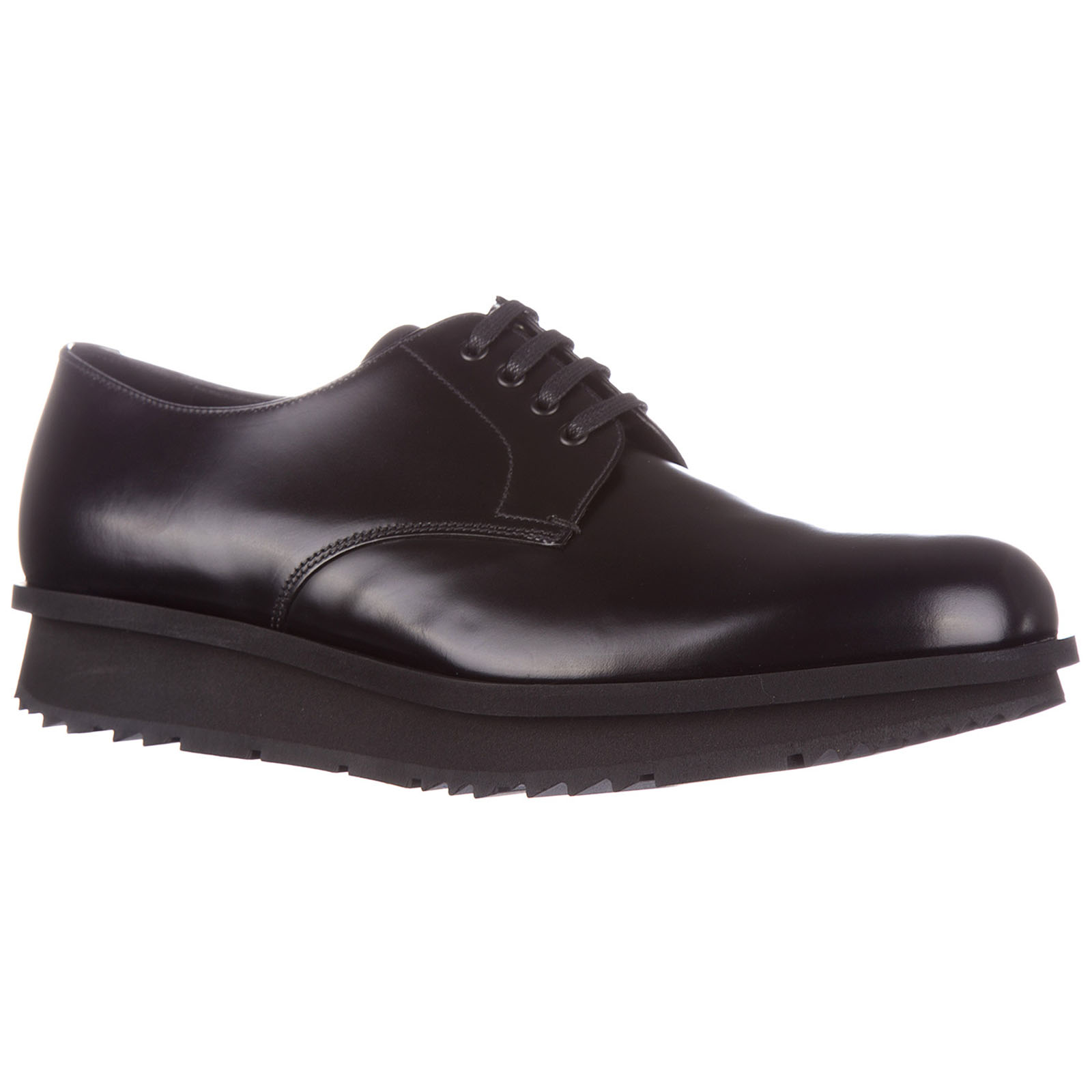 Men's classic leather lace up laced formal shoes spazzolato rois derby