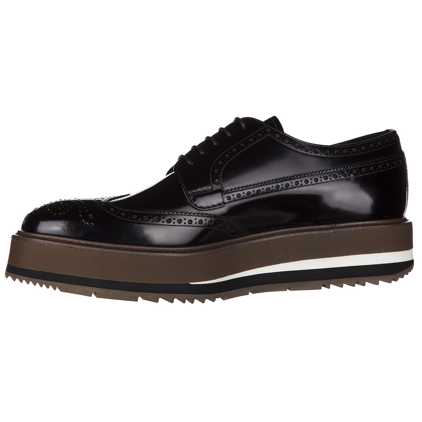 Men's classic leather lace up laced formal shoes spazzolato