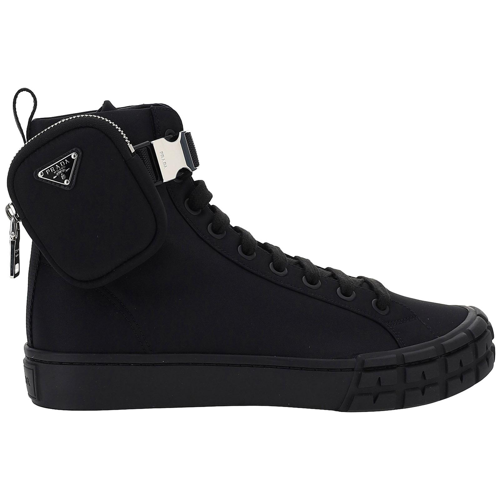Scarpe sneakers uomo in pelle high top sneakers