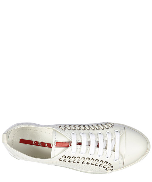 Women's shoes leather trainers sneakers nappa sport secondary image