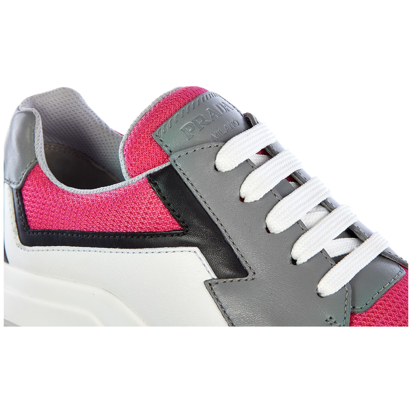 Chaussures baskets sneakers femme en cuir plume bike