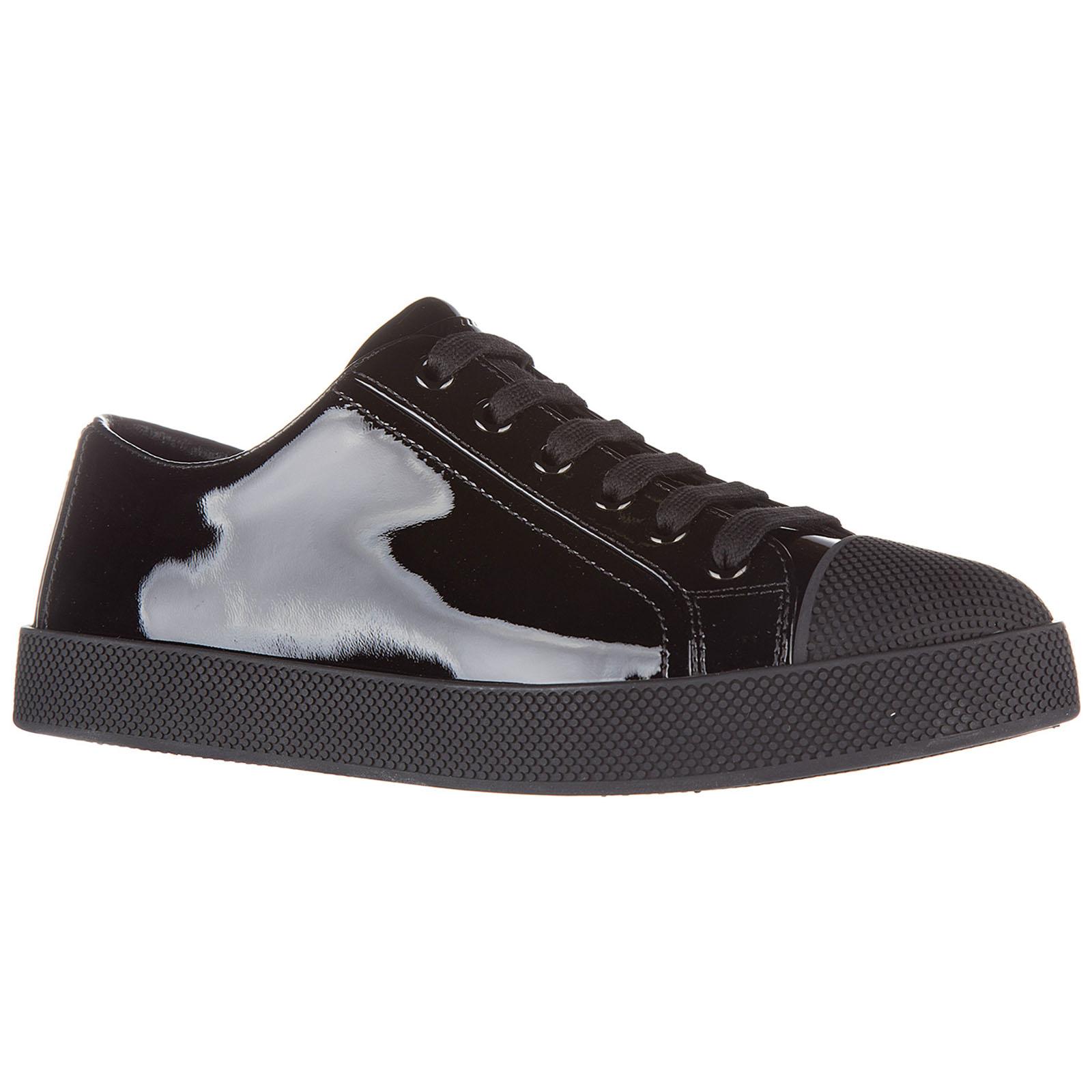 Scarpe sneakers donna in pelle vernice soft