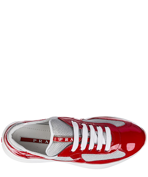 Women's shoes leather trainers sneakers america s cup secondary image