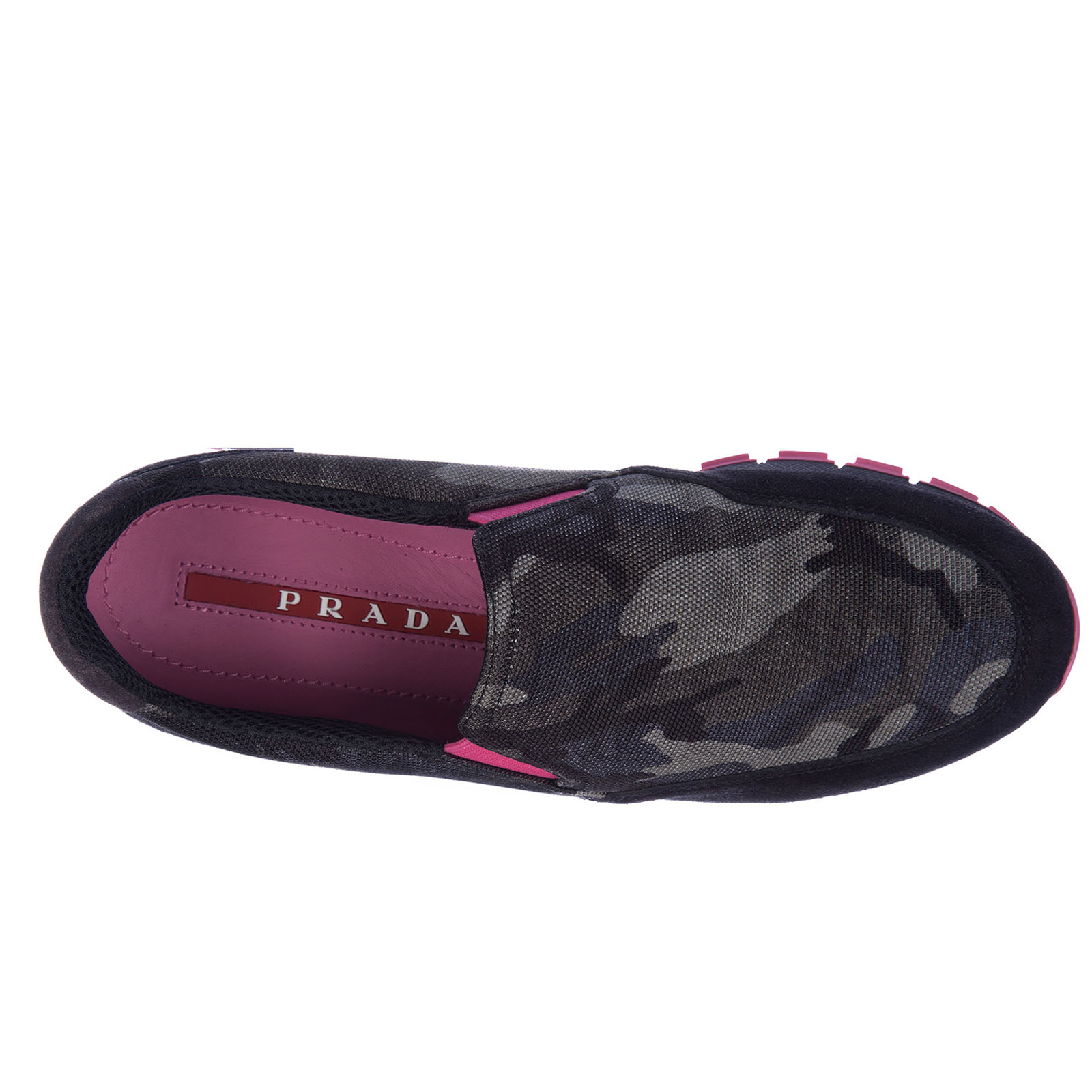 Damen mokassins slip on sneakers camouflage