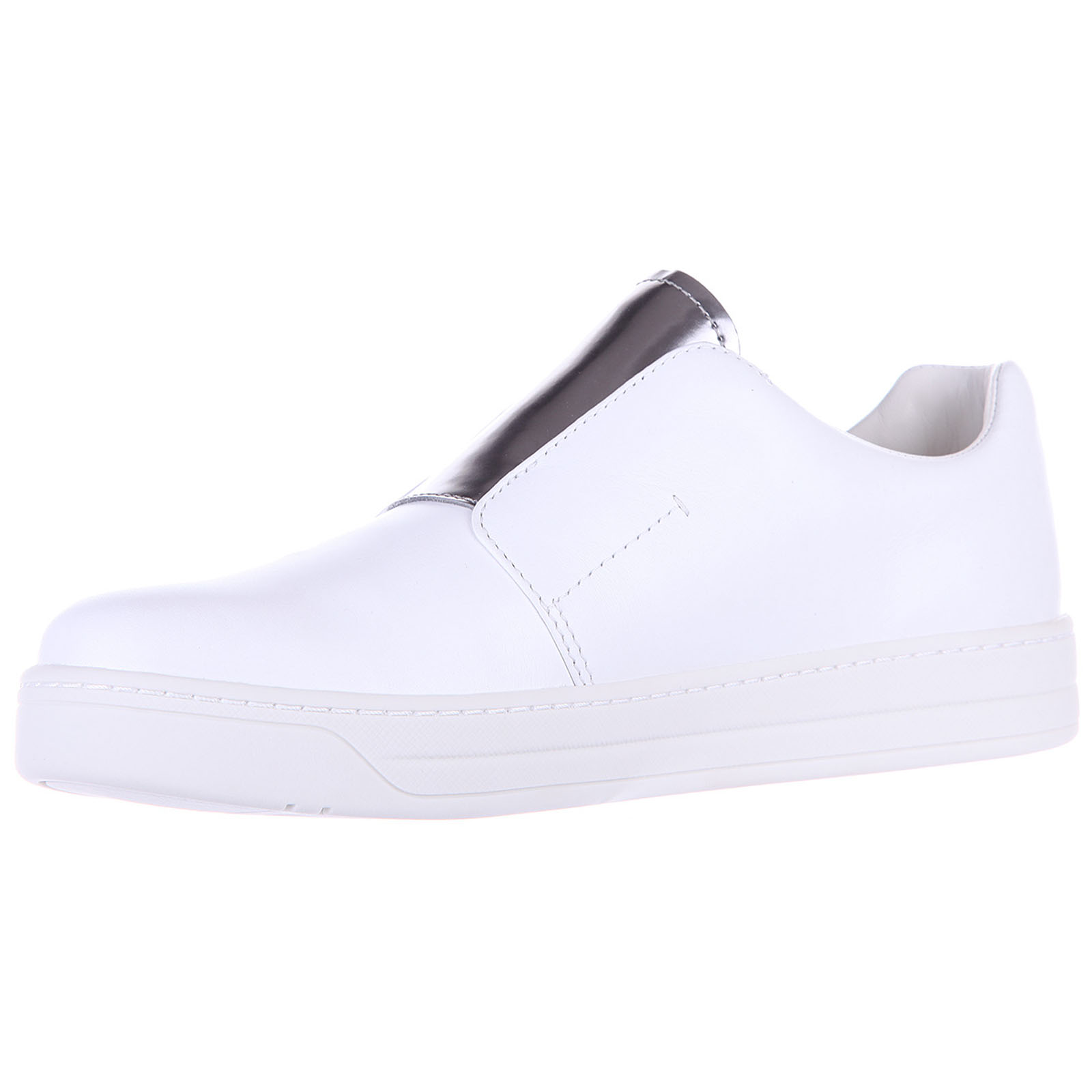 Women's leather slip on sneakers  soft calf spazzolata