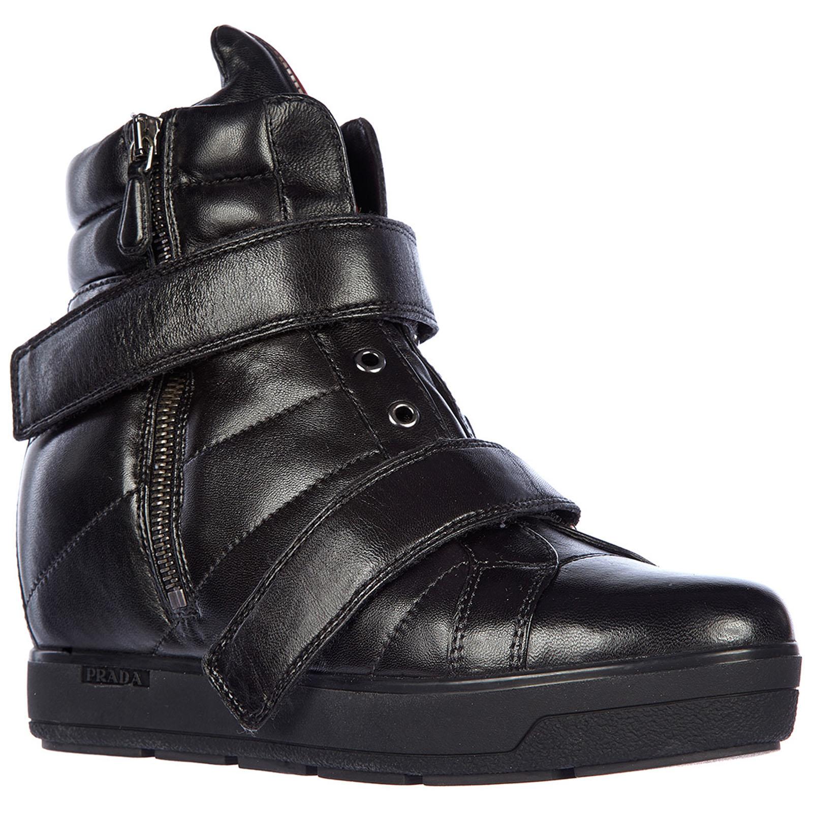Zapatos zapatillas de deporte largas mujer en piel nappa sport