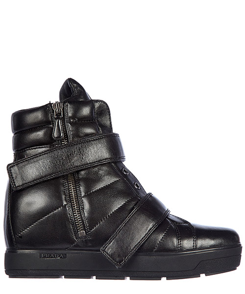 Women's shoes high top leather trainers sneakers nappa sport