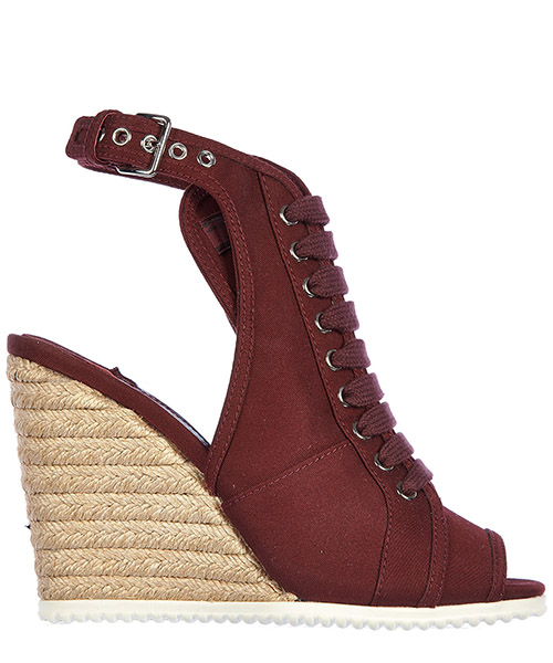 Women's shoes wedges sandals  gabardine