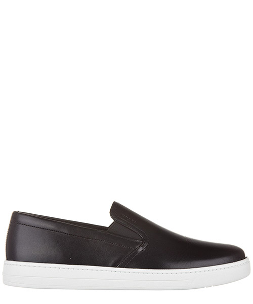 Men's leather slip on sneakers  vitello plume