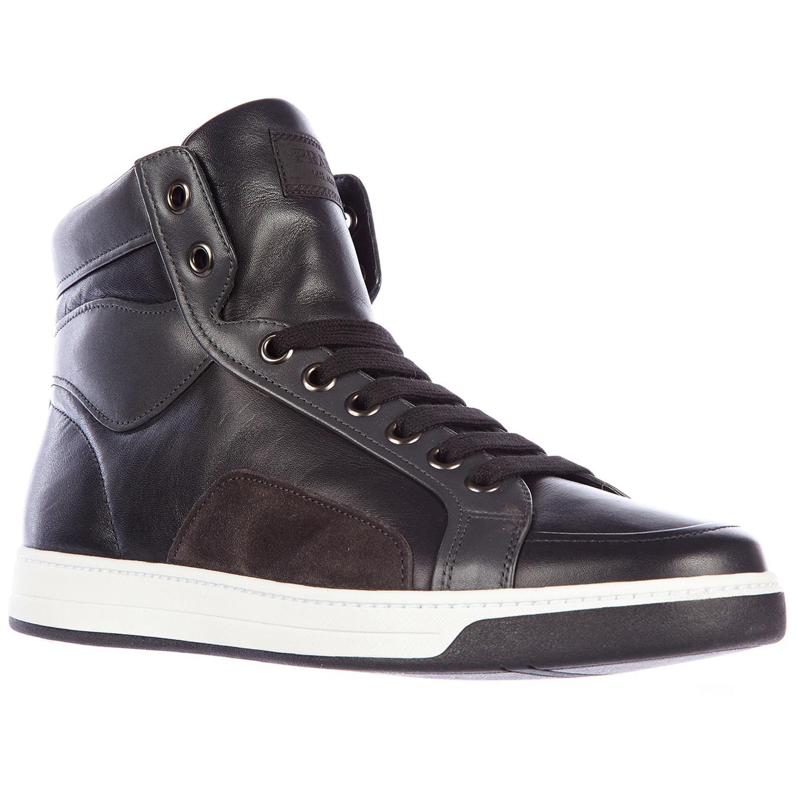 Herrenschuhe herren leder schuhe high sneakers plume color