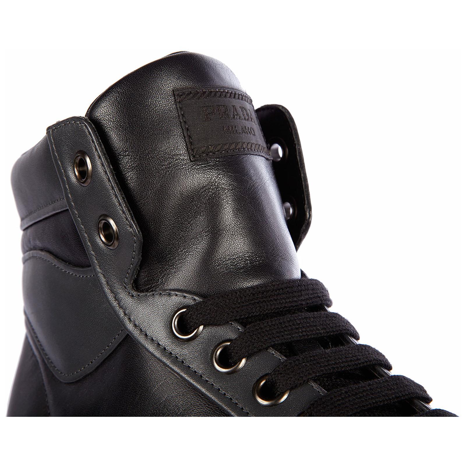 Zapatos zapatillas de deporte largas hombres en piel plume color