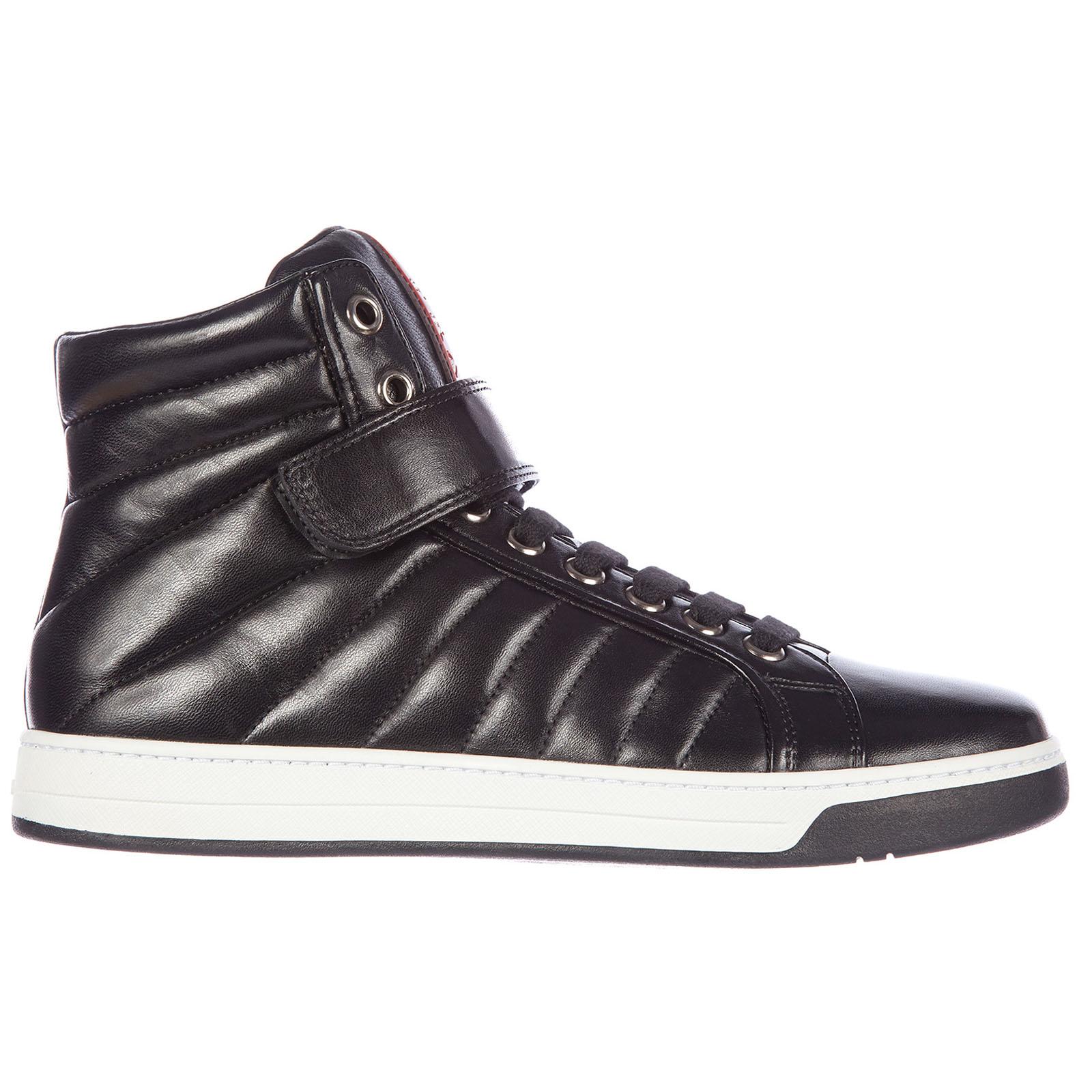 Scarpe sneakers alte uomo in pelle nappa sport ... 5bcd9c1bf60