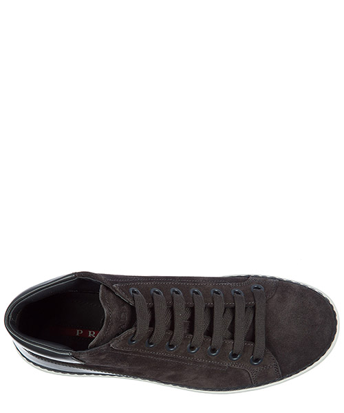 Chaussures baskets sneakers hautes homme en daim secondary image