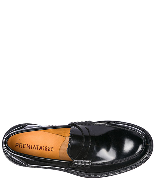 Men's leather loafers moccasins  natura secondary image