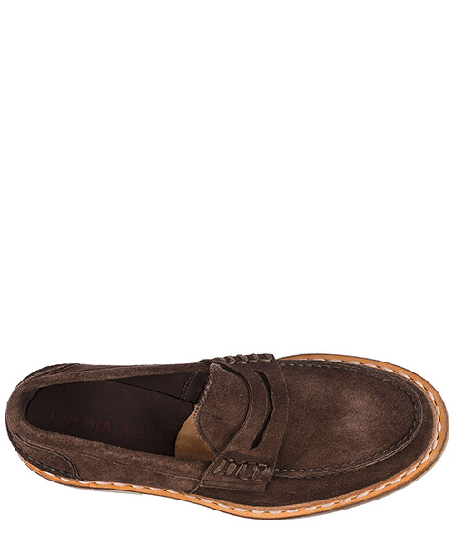 Men's suede loafers moccasins castoro secondary image