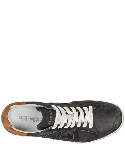 Men's shoes leather trainers sneakers andy secondary image
