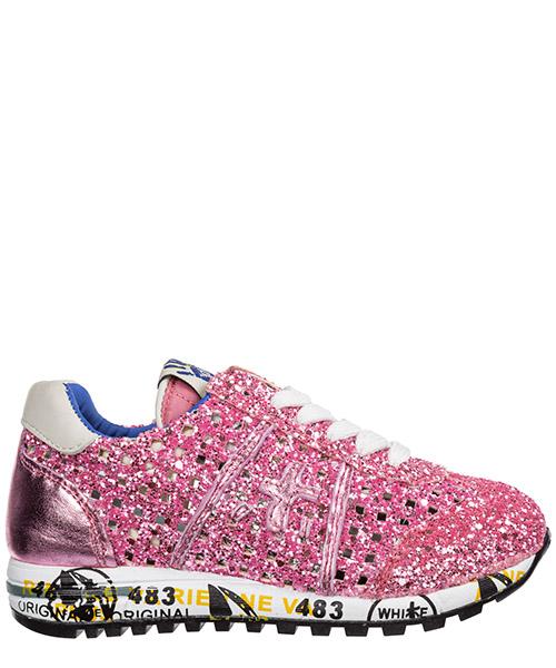 Кроссовки Premiata lucy lucy 0757 glitter quadro rosa