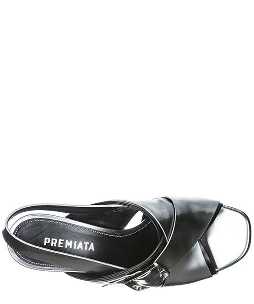 Sandales femme à talon en cuir secondary image