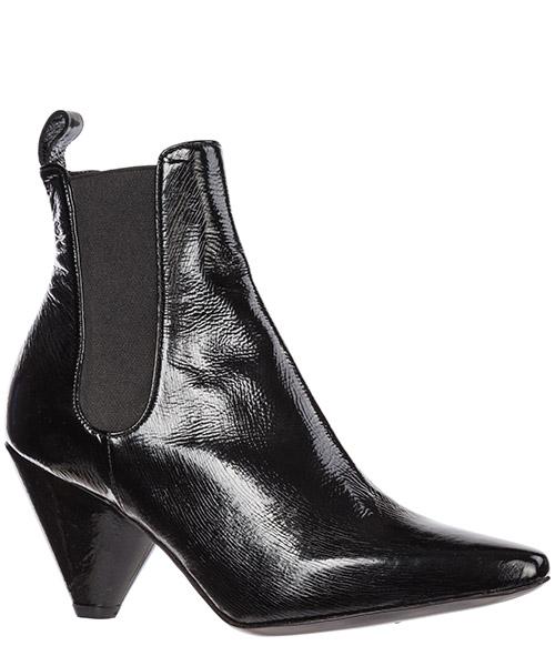 Stivaletti stivali donna con tacco in pelle secondary image