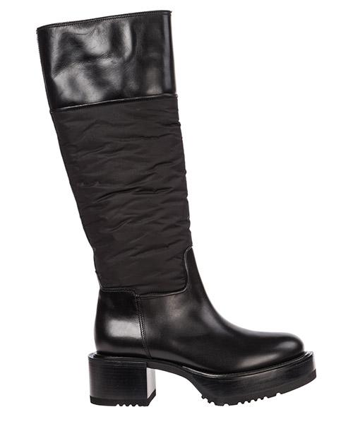 Women's leather heel boots