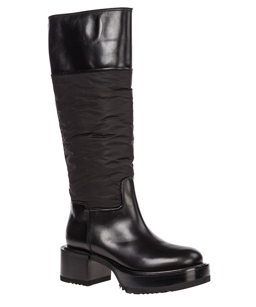 Women's leather heel boots secondary image