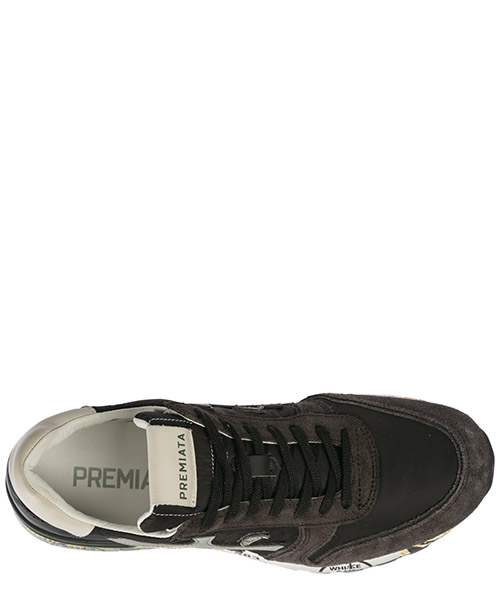 Men's shoes leather trainers sneakers mick secondary image