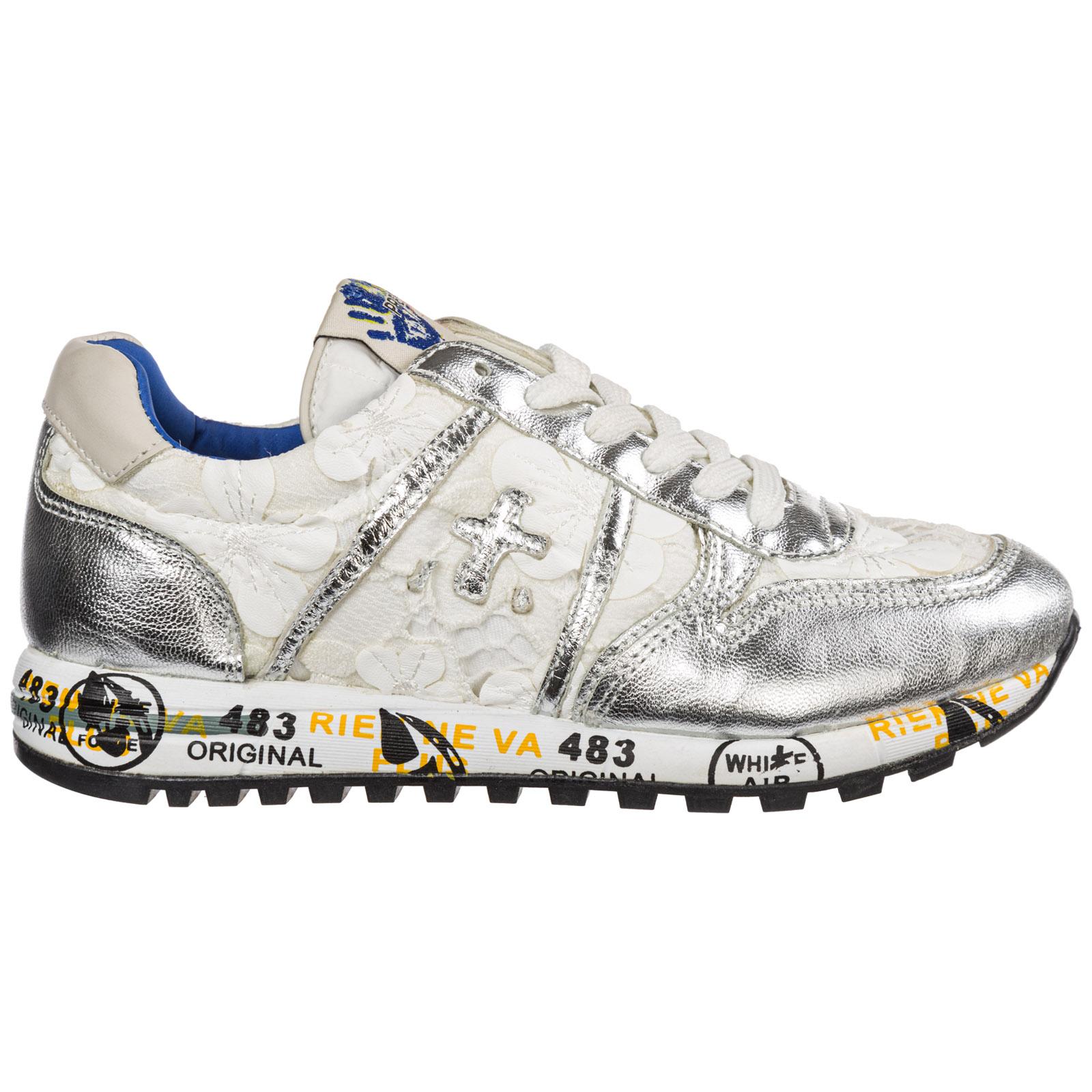 Scarpe sneakers bambina pelle sky