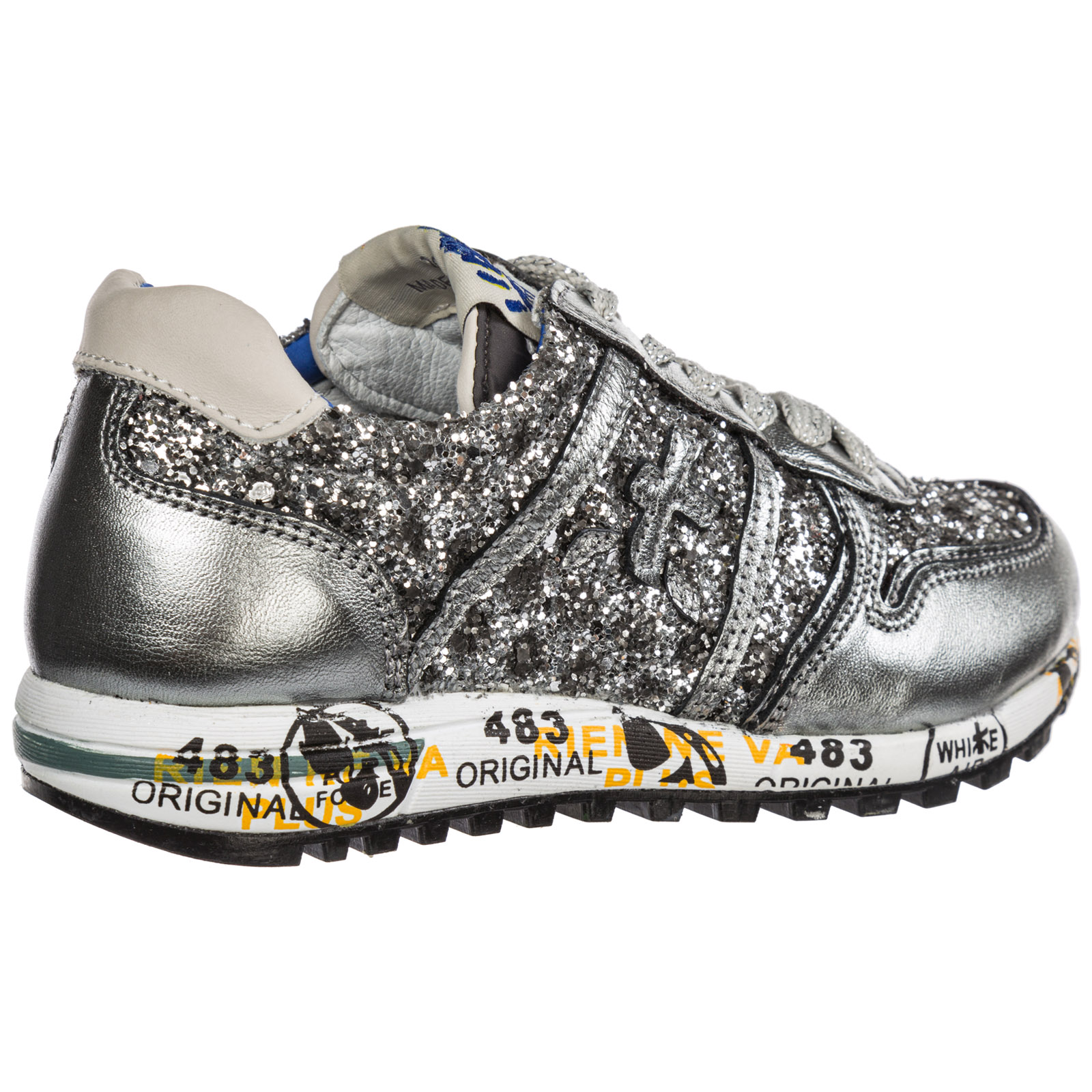 Girls shoes child leather sneakers sky