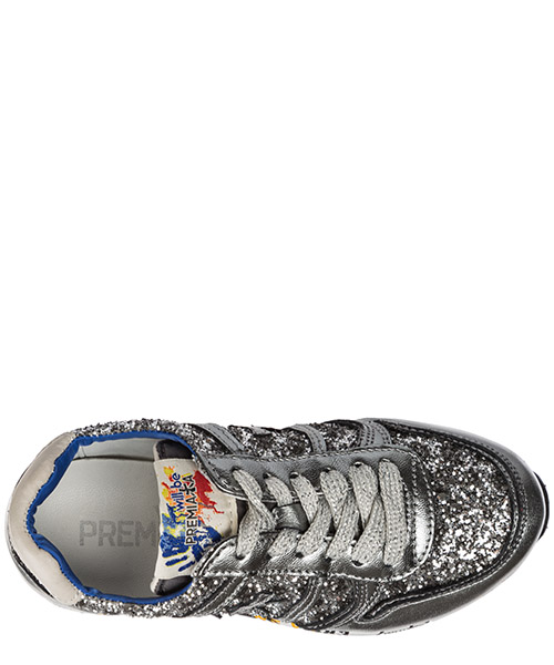 Scarpe sneakers bambina pelle sky secondary image