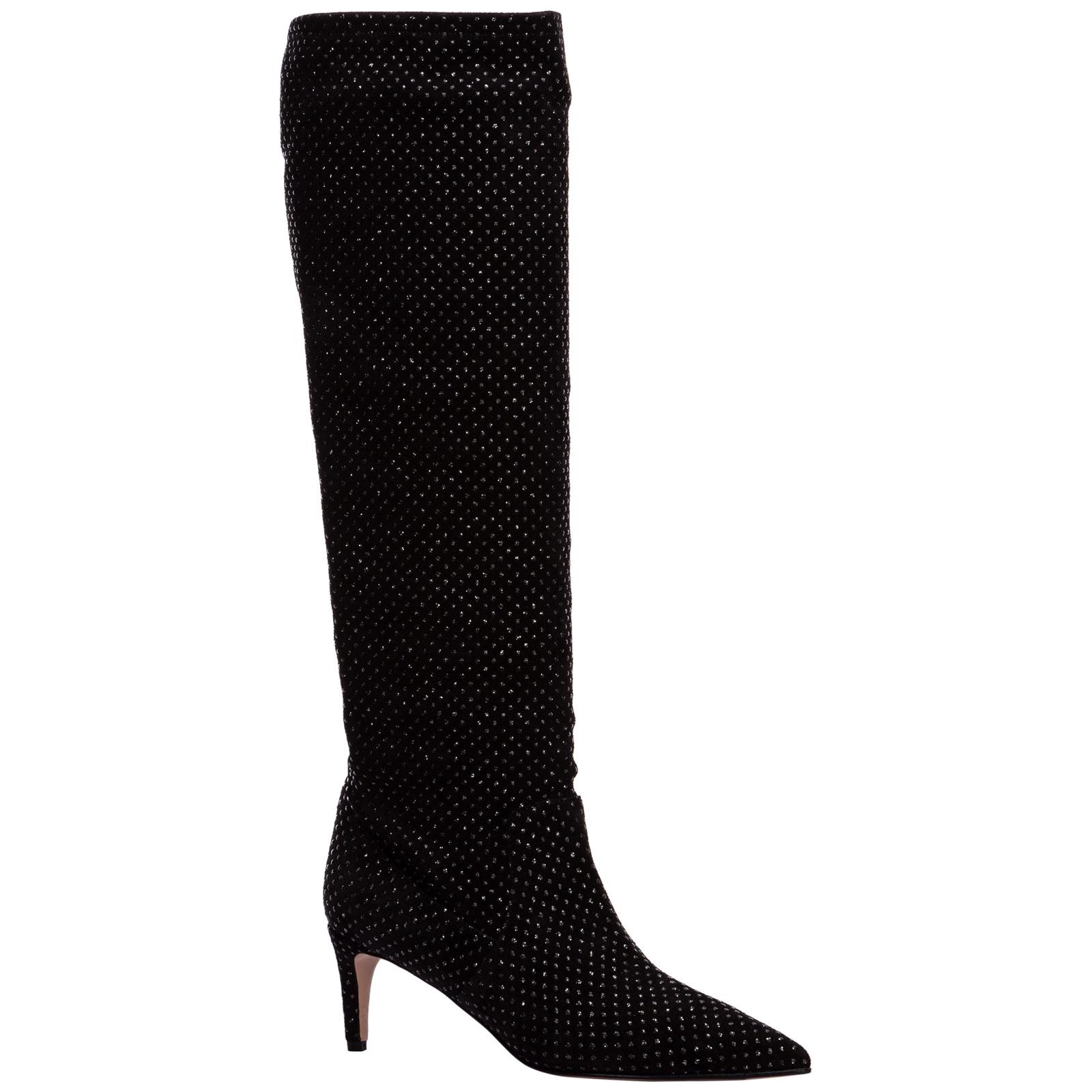 Women's suede heel boots