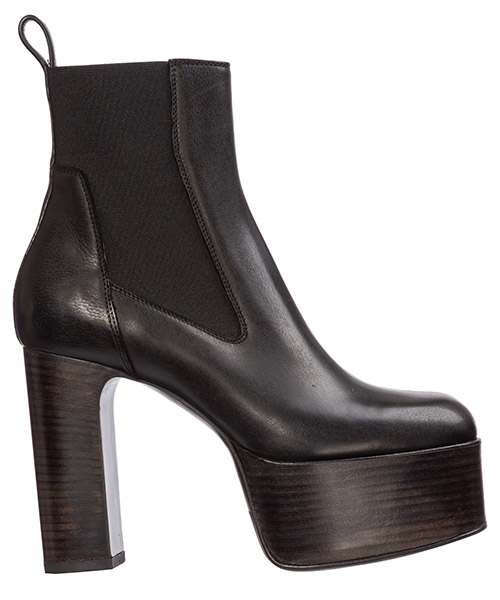 Bottines à talons Rick Owens kiss rp19f5889lde09 black