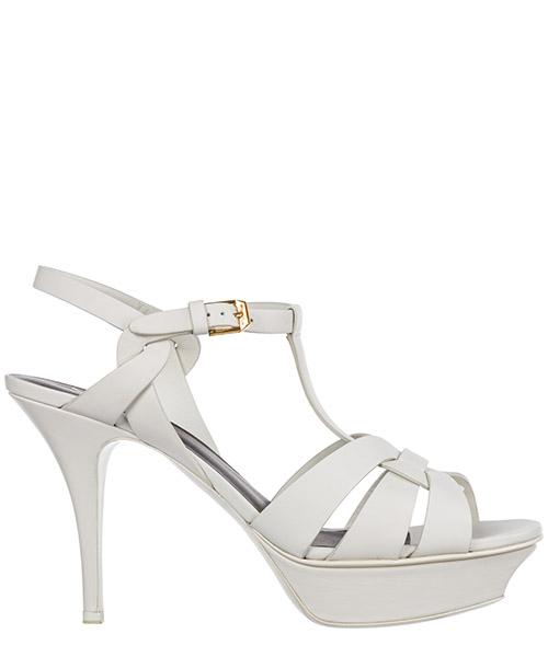 Sandals Saint Laurent Tribute 315490BZC009008 porcellana