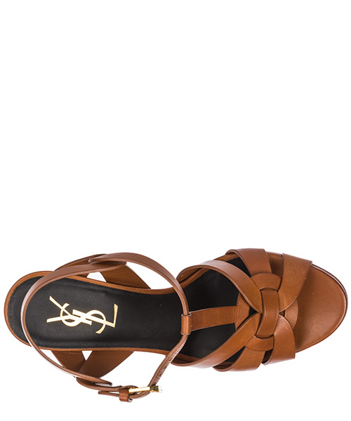 Women's leather platform sandals tribute secondary image