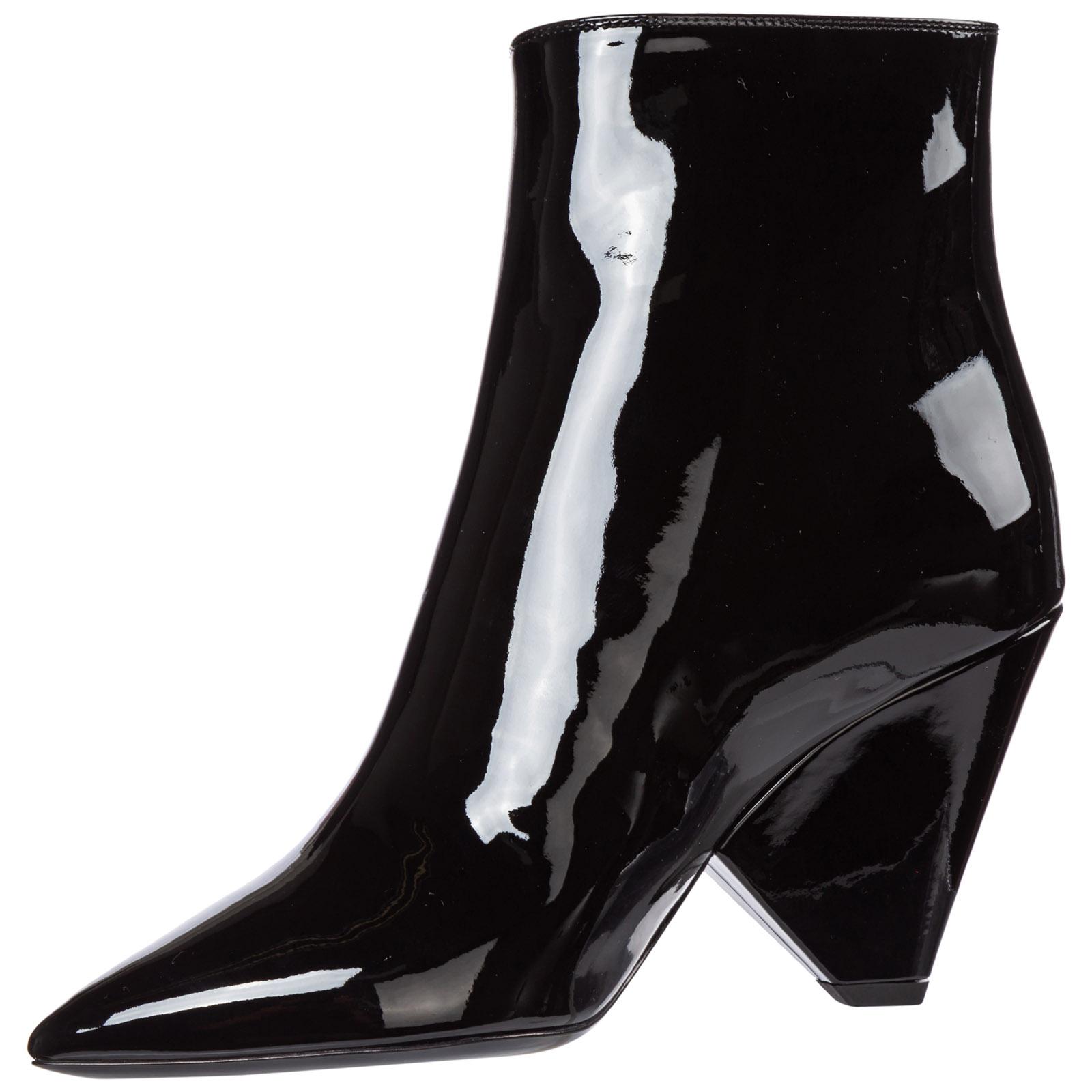 Women's leather heel ankle boots booties niki