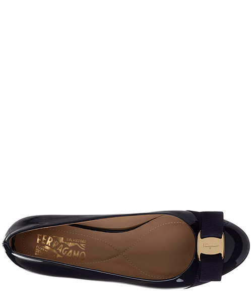 Damen leather ballet flats ballerinas  varina secondary image