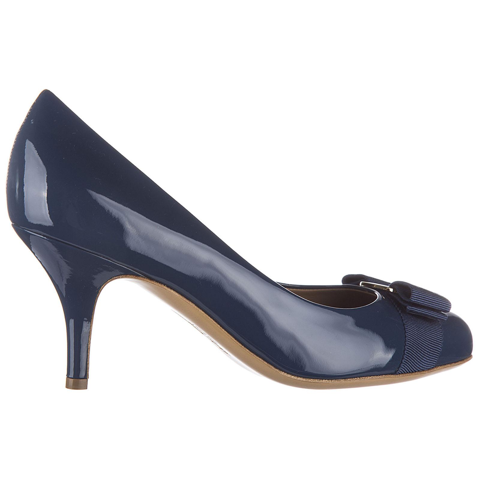 Decolletes decoltè scarpe donna con tacco pelle carla