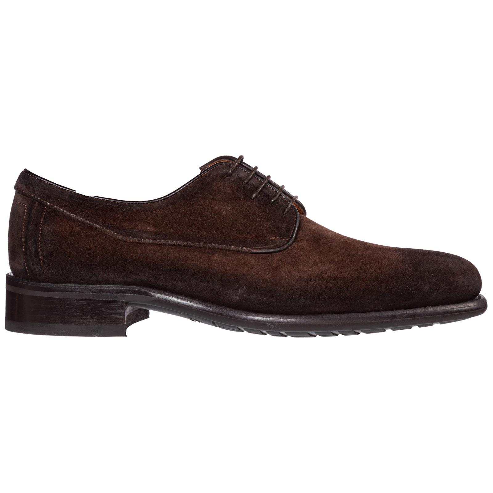 Santoni Shoes MEN'S CLASSIC SUEDE LACE UP LACED FORMAL SHOES DERBY