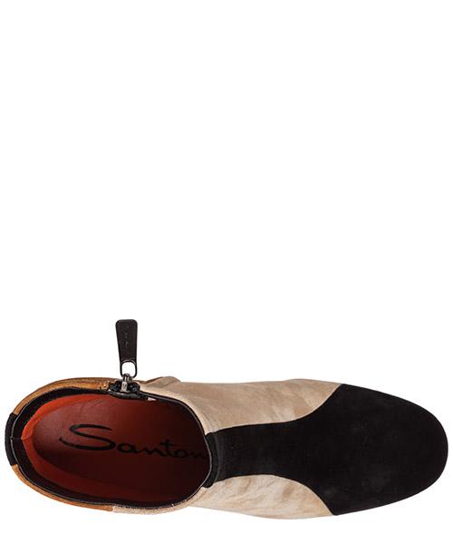 полусапожки женские на каблуке замшевые secondary image