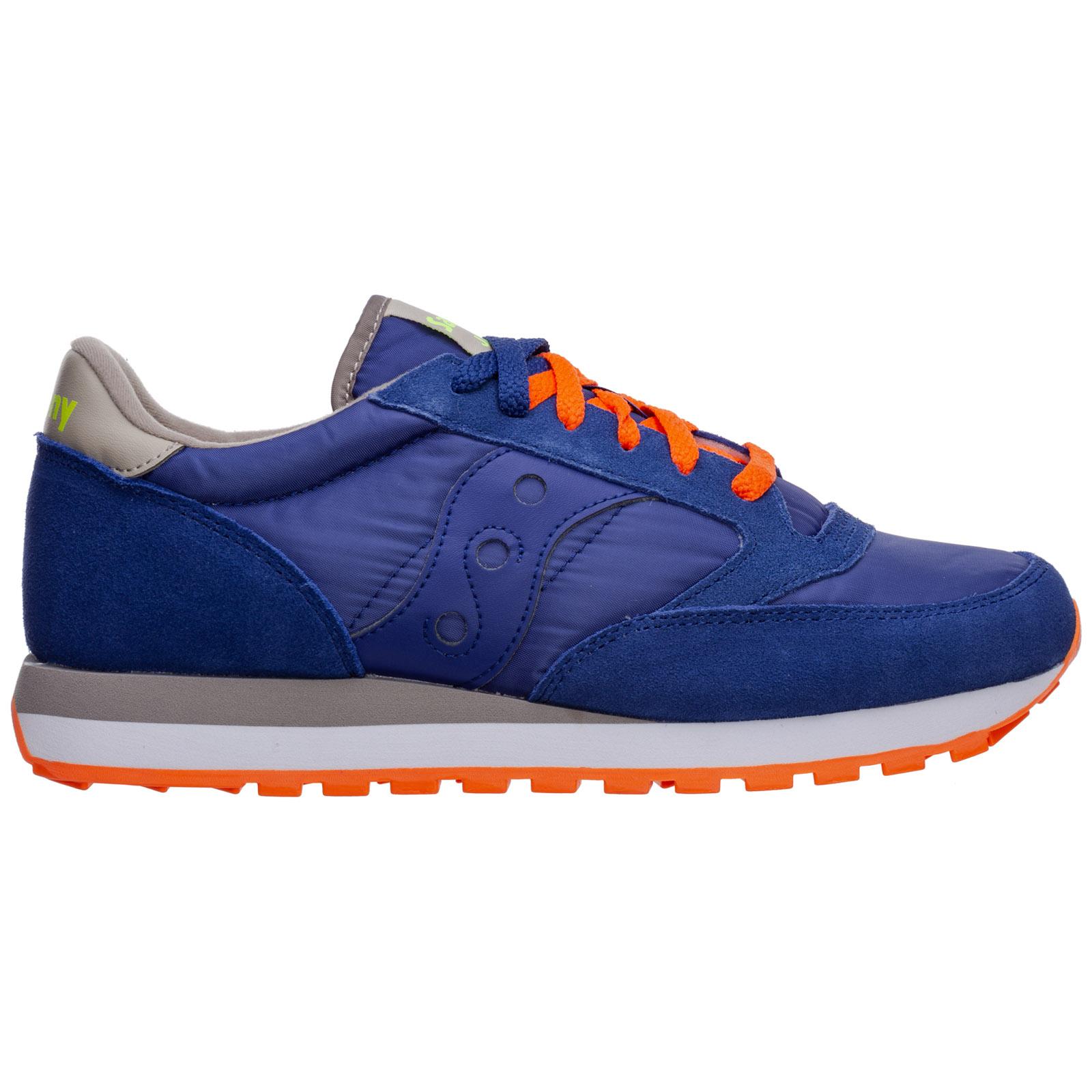 Saucony sneakers uomo jazz original S2044-561 blu logo tacco largo