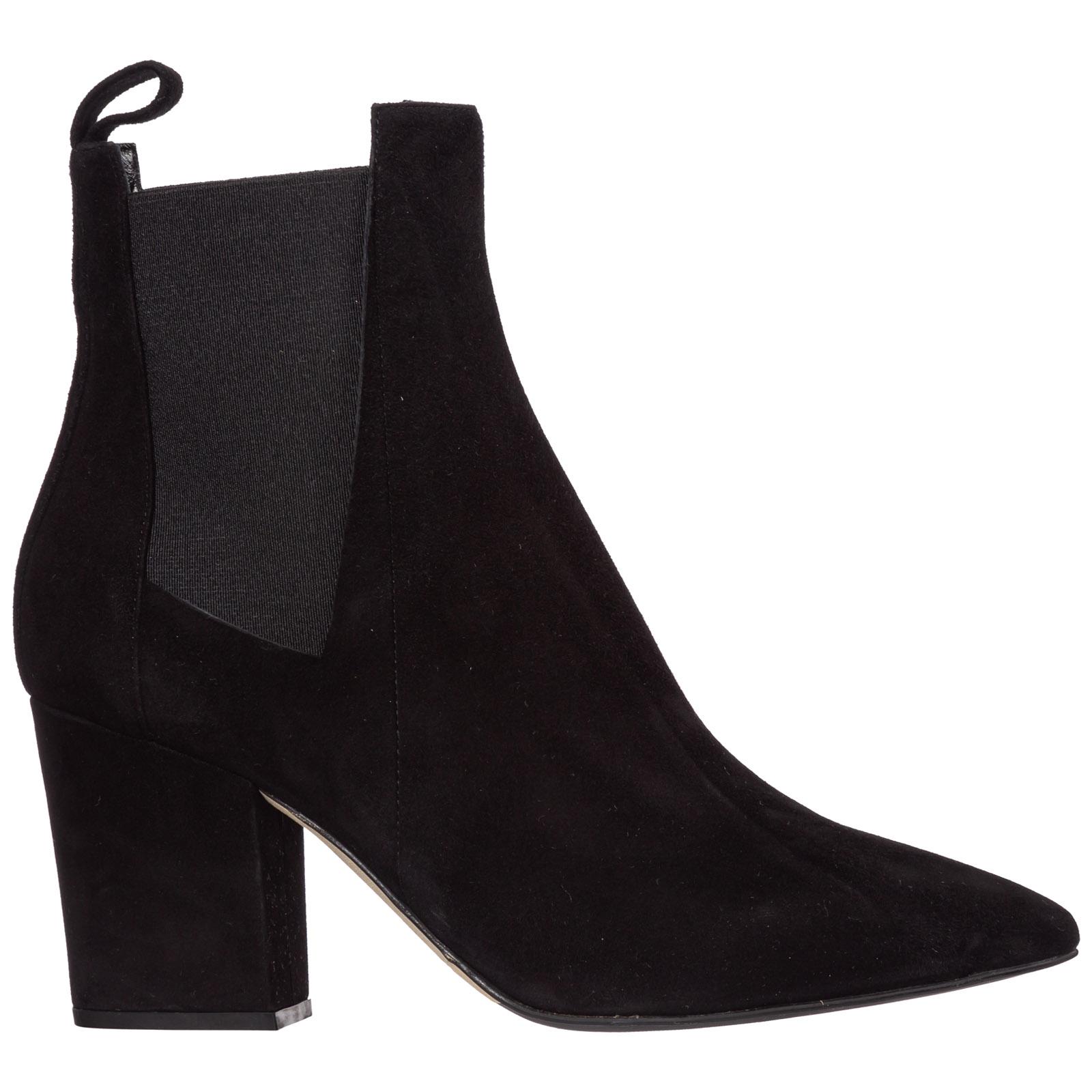 Sergio Rossi Boots WOMEN'S SUEDE HEEL ANKLE BOOTS BOOTIES SERGIO